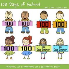 free 100th day clipart