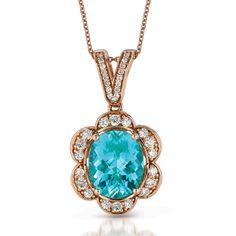 Paraiba Tourmaline & Diamond Pendant - Le Vian Couture - Product Search - JCK Marketplace