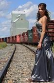 Country girl grad--- name of the town on the grain elevator.
