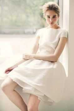 simple wedding or bridesmaids dress.