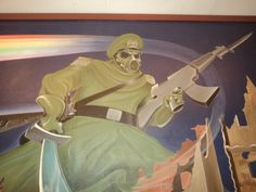 This just a Awesome Gun Arts of Paintings At the Entrance of the Denver International Airport.