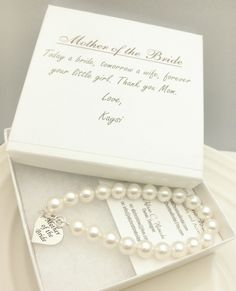 of the Bride Pearl Strand Bracelet, Mother of the Groom Wedding Gift ...