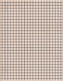 The grid-patterned backdrop used in 'Glass Pieces' evokes the look of graph paper