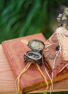 Vintage Locket and Book as Wedding Decor
