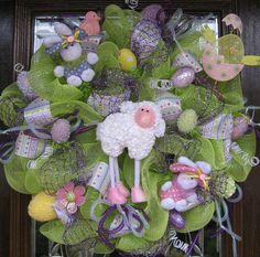 easter wreaths, lamb bunni
