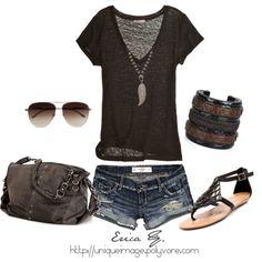 jean shorts, summer styles, summeroutfit, summer looks, summer fashions, casual summer, summer outfits, shoe, summer days