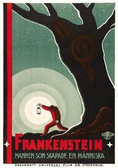 theartofhorror:    Swedish Poster for Whale'sFrankenstein