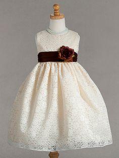 Lace flower girl dress