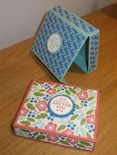 CraftyCarolineCreates: No Cut Magnetic Gift Box using Pretty Petals DSP by Stampin' Up - VideoTutorial