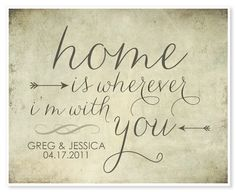 customize your date home is wherever i 39 m with you