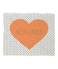'Hello Lovely' Fleece Throw Blanket