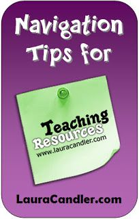 This Corkboard Connections blog post provides several tips for quickly finding what you need on Laura Candler's Teaching Resources website.