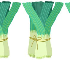 giant leeks by LFN textiles