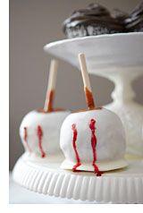 vampire caramel apples.