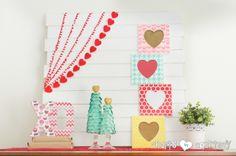 Valentine Craft: Stenciled Valentine Heart Frames