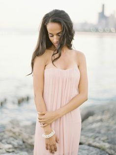 Beautiful strapless pink dress: http://www.stylemepretty.com/illinois-weddings/chicago/lincoln-park/2014/10/01/lincoln-park-summertime-engagement/ | Photography: Britta Marie - http://brittamariephotography.com/