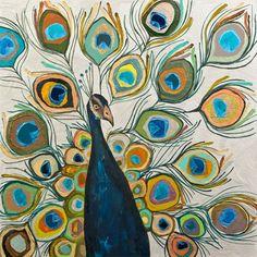 Peacock - Metallic Pearl White