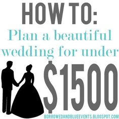 Tips & Tricks on how to plan your dream wedding for amazingly cheap. Pin now read later