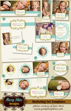 Hazy Skies Designs  12 pc Marketing Set, Photography,  Small Business, Boutique Business Branding. $40.00, via Etsy.