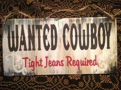 Home decor,Cowboy sign