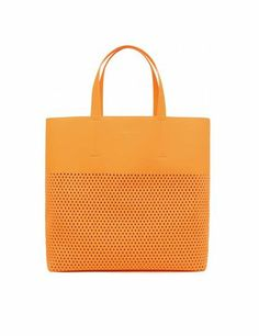 Must-have - Bimba y Lola Bag - monstylepin #fashion #style #musthave #trend #handbag #tote #perforated #orange