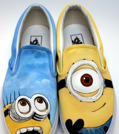 #minion shoes Slip-on Painted Canvas Shoes Despicable Me Shoes,Slip-on Painted Canvas Shoes