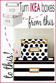 DIY Kate Spade Inspired Storage Bins from IKEA