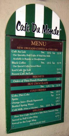Cafe Du Monde- New Orleans, Louisiana