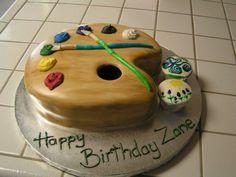 Painter's Palette b-day cake