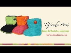 Botitas tejidas en crochet para bebe de 0 a 3 meses (Parte 1: suela) - YouTube