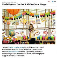 Classroom decor. Pinterest from a teacher's perspective.