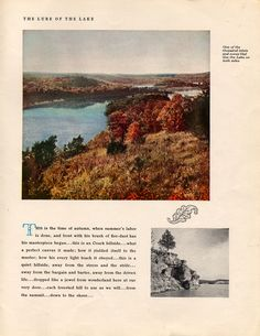 """An exerpt from a late 1930's Lake of the Ozarks promotional piece called """"The Lure of the Lake"""", produced by Union Electric Light & Power Co."""
