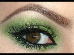 green sparkle eyeshadow....