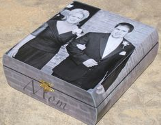 Personalized Wedding Keepsake Box, Custom Mother of the Groom Gift, Father of the Bride Photo Memory Box. $68.00, via Etsy. themarriedapp.com hearted <3