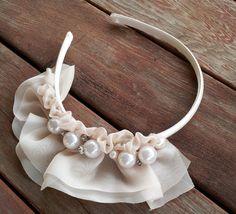 Vintage Cream DelightOh So Fancy Hard Headband by BleuRoseBoutique, $17.50