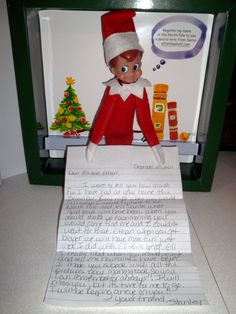 A Pinner said:  December 25, 2011....Before Stanley headed home to the North Pole until next year he wrote the boys a letter telling them how much fun he had at our house...Good times, great memories :)