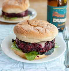 Recipe: Best-Ever Veggie Burger // These just might live up to the name! There is a fair amount of effort involved (cooking brown rice,  roasting beets, etc), but it is totally worth it! These burgers have a fantastic umami flavour and taste especially good topped with aged white cheddar and pickle slices.  I ended up with at least 10 good-sized, filling burgers, so I froze about half and they freeze and reheat great. Would definitely recommend making these!
