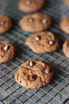 #paleo #paleomg Protein Pumpkin Chocolate Chip Cookies