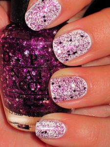 Glitter over white..pretty! love this!