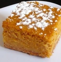 Recipe For Pumpkin Gooey Butter Cakes - They are called Pumpkin Gooey Butter Cakes and they make pumpkin pie feel like the third sister-wife of the dessert table.