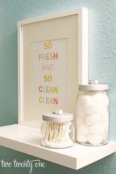 Colorful Bathroom Printable {Free Printable}...