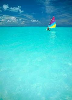 Clear blue water