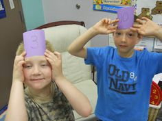 """Cute class idea for Part, Part, Whole! The """"audience"""" gives the answer (whole) as they look at each others parts to figure out their own part."""