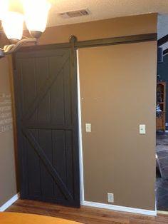 Wilker Do's: DIY Sliding Barn Door Love this for the man cave basement