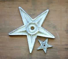 You Deserve a Star or Two - Vintage Rustic Stars - Home Decor - Geometric - Western - Wall Hanging - White - Brown - Cast Iron. $42.00, via Etsy.