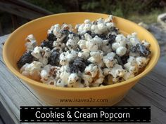 OH YES!!!!  Cookies and cream popcorn and it's easy to make