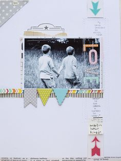 Quote on layout Sticking with love October Afternoon blog