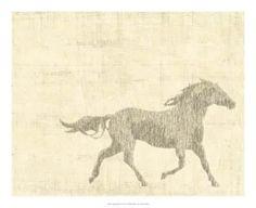 Vintage horse prints