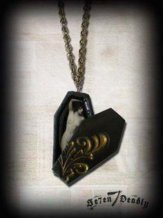 Open Casket Coffin Necklace