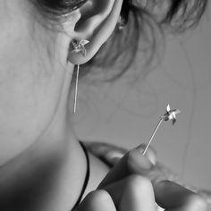 PINWHEEL EARRINGS... Love this..!